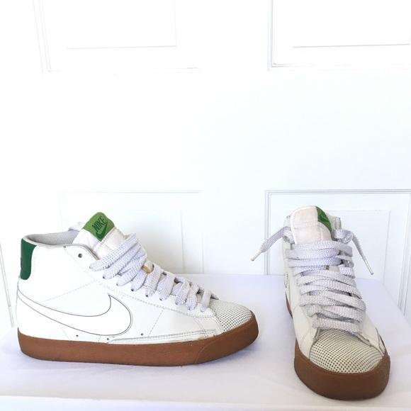size 40 d1482 2a086 Nike Blazer High White Sneakers